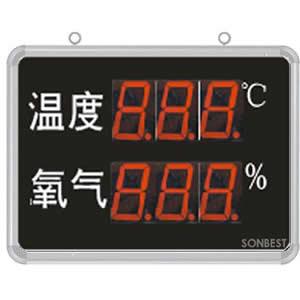 [SD8205B] 大屏LED显示温度、氧气显示仪