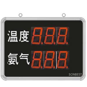 [SD8206B]大屏LED显示温度、氨气显示仪