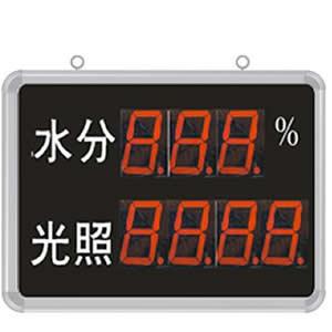 [SD8212B]大屏LED显示水分、光照度显示仪