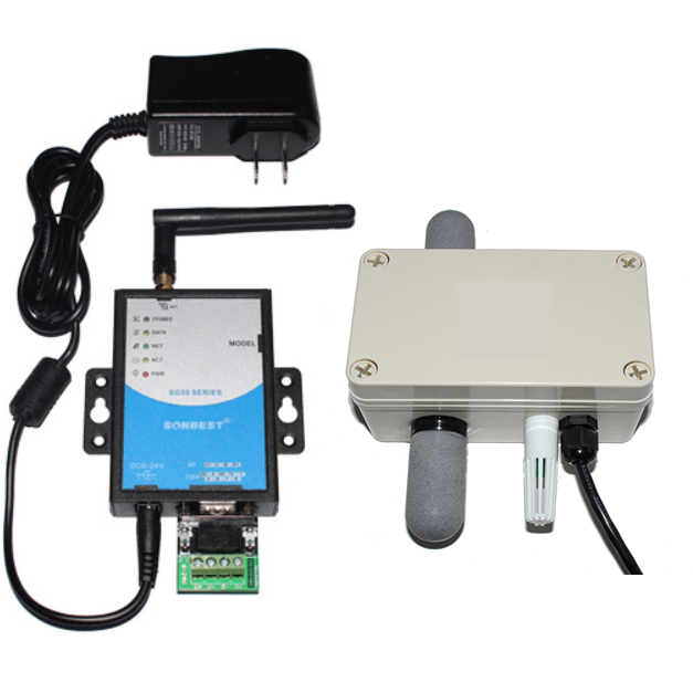 [SG5090B-3990] GPRS二氧化碳、光照度、温湿度一体式传感器