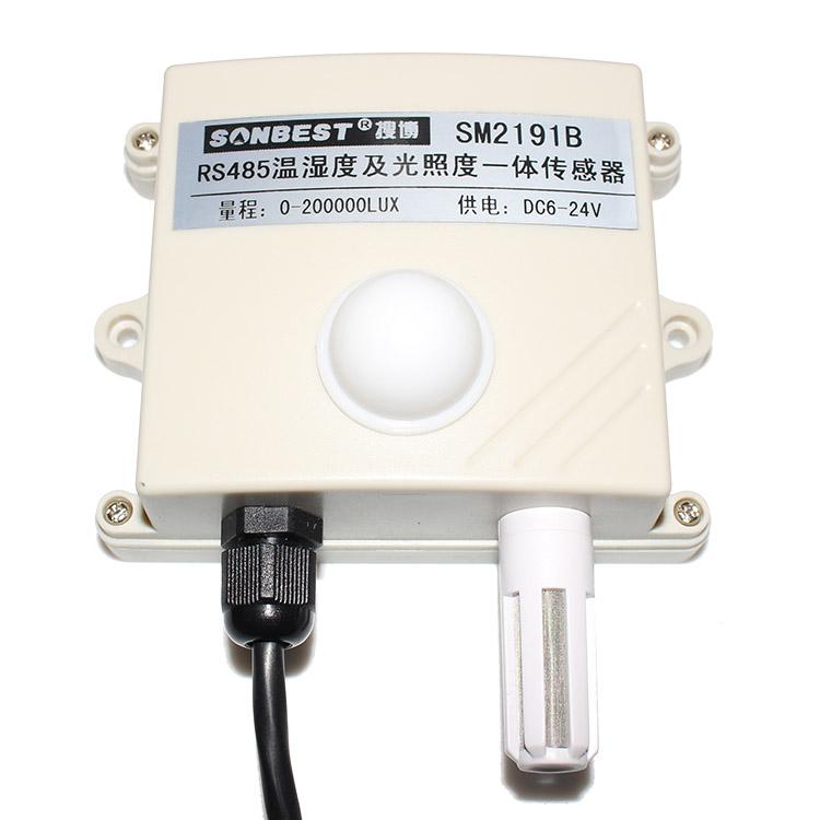 [SM2191B]RS485总线式光照度及温湿度一体式传感器