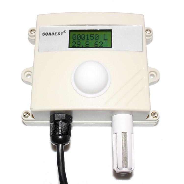 [SD2191B]RS485带显示20W宽量程光照度 及温湿度一体式传感器