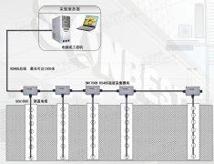 竖直埋管式地下换热井温度变化监测系统