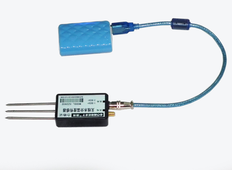 无线土壤水分温度传感器(PT100,无线,水分传感器,温度传感器,modbus-RTU,地址可修改,433Mhz|SZ2802)