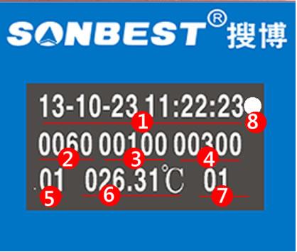 八通道PT100温度记录液晶功能说明