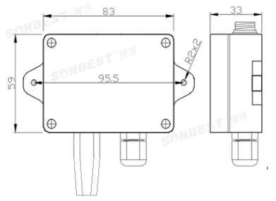[sm1911b]rs485温湿度传感器模块