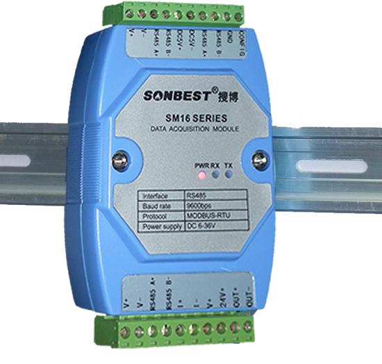 设备有4种波特率可供设置,分别为4800,9600,14400,19200,默认波特率为9600。 设备地址范围为1-250。 若用户不知道设备波特率或地址时,可用如下方法找回设备地址和波特率信息。 1.需右侧端子排上CNG引脚与GND短接。 2.打开电脑串口调试助手,先将波特率设置为默认的9600,数据位为8,无校验位,停止位为1。  3.将设备电源重启。 每次重启电源,设备会主动发送4个字节数据,其中前2个字节数据为设备地址,后2个字节为设备通讯波特率。如上图所示,后2个字节为25 80,对应十进制数