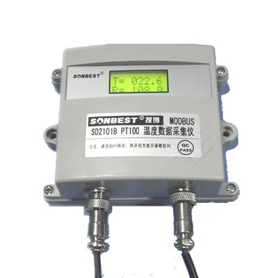 [SD2101B]高精度PT100温度采集仪(RS485 MODBUS-RTU,-120-500度宽范围)