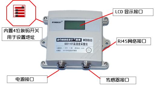 网络接口温湿度显示仪接口说明