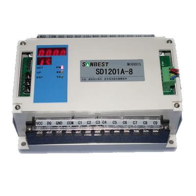 8路RS485接口PT100温度集中采集仪(巡检仪)(8通道、温度采集仪、PT100、温度采集模块、巡检仪、MODUBS协议、RS232 SD1201A-8)